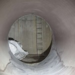 地下貯水トンネル 下水との接続部