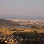 嵯峨天皇陵 参道からの眺め