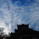 環天頂アークと伏見桃山城 4月