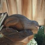 玉津岡神社 蛙の彫刻