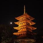 東寺 五重塔と満月