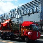 稲荷祭 京都駅と神輿