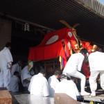 稲荷祭 奉安殿に安置される神輿