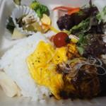 六角キッチン109 ロコモコ風ハンバーグ弁当