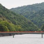 宇治川と朝霧橋 4月