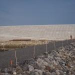 沿岸部の巨大堤防