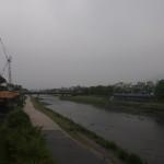 御池大橋からの鴨川 5月10日
