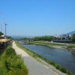 御池大橋からの鴨川 5月13日