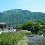 比叡山と高野川