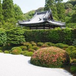 一休寺 サツキ咲く枯山水庭園