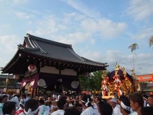 嵯峨祭 御旅所と神輿