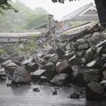 熊本城 崩れた石垣