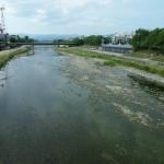 水の少ない鴨川