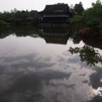平安神宮 空が映る東神苑