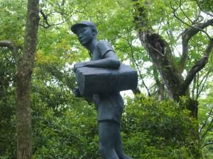 円山公園 働く少年の像