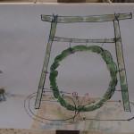 今宮神社 茅の輪くぐりのイラスト