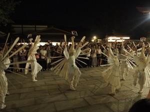 鷺踊 八坂神社