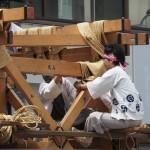 祇園祭 鉾建て