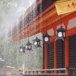 八坂神社 点検放水 7月