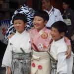 祇園祭 大役を終えた長刀鉾のお稚児さん 7月