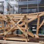 祇園祭 大船鉾150年ぶりの鉾建て 7月