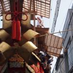 大船鉾の曳き初め