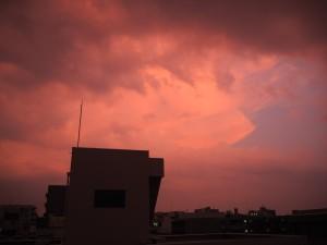 26日の夕空