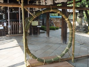 御香宮神社 茅の輪