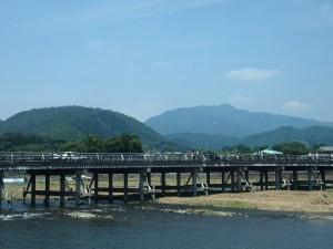 嵐山 渡月橋 8月11日