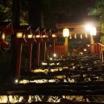 貴船神社 七夕笹飾りライトアップ