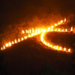 五山送り火 左大文字