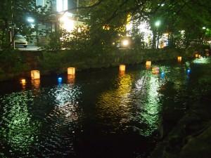 高瀬川夏まつり 灯籠流し