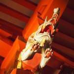 石清水八幡宮 象の彫刻