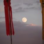 大覚寺からの月