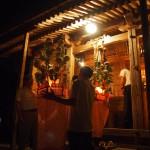 志古淵神社に奉納される花笠