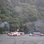 女神輿 船渡御 花火