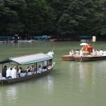 松尾大社の八朔祭 女神輿の船渡御