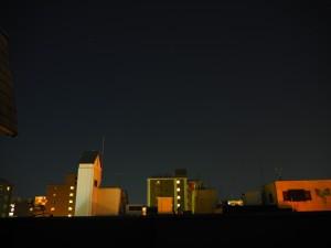 9月8日夜の京都の空