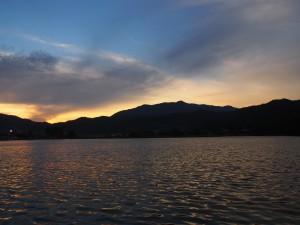広沢池の夕暮れ