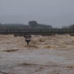 台風18号水害 渡月橋 9月