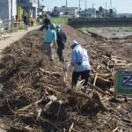 台風18号水害 鴨川下流 9月