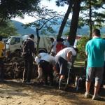台風18号水害 復旧作業 9月