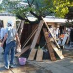 嵐山 中ノ島 復旧作業が続く