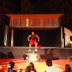 岡崎ハレ舞台 レッドカーペットでは夜もパフォーマンスが