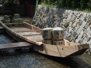 高瀬川 新しくなった高瀬舟