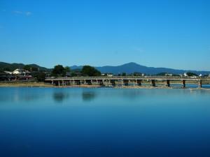 嵐山 大堰川の風景