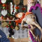 ずいき神輿 カメレオン