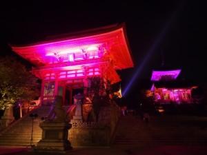 清水寺 ピンクライトアップ