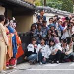 ずいき祭り 上七軒 舞妓さんとカメラマン