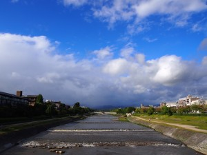 鴨川と空 10月6日